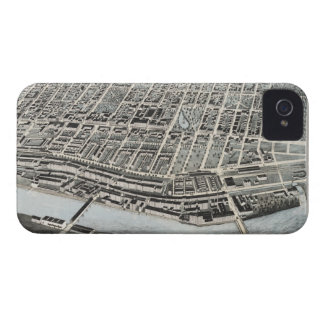 Vintage Pictorial Map of Manchester NH 1876 iPhone 4 Cover