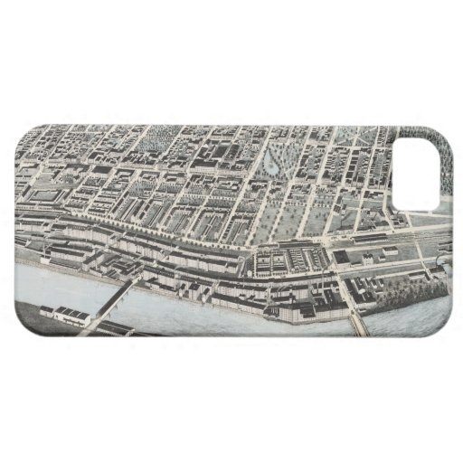 Vintage Pictorial Map of Manchester NH (1876) iPhone 5 Cover