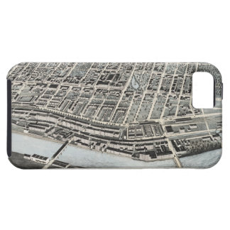 Vintage Pictorial Map of Manchester NH 1876 iPhone 5 Case