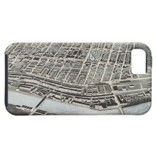 Vintage Pictorial Map of Manchester NH (1876) iPhone 5 Case