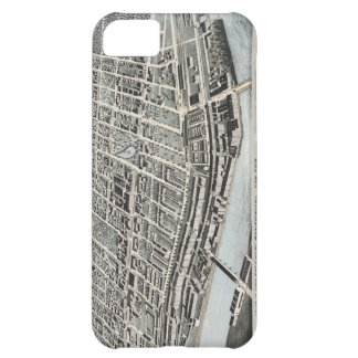 Vintage Pictorial Map of Manchester NH 1876 iPhone 5C Cases