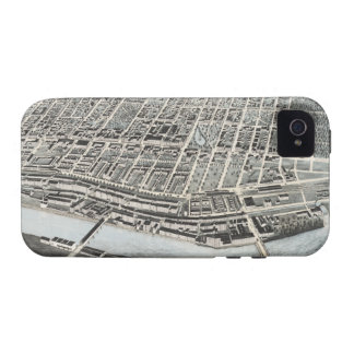 Vintage Pictorial Map of Manchester NH 1876 Case-Mate iPhone 4 Cover