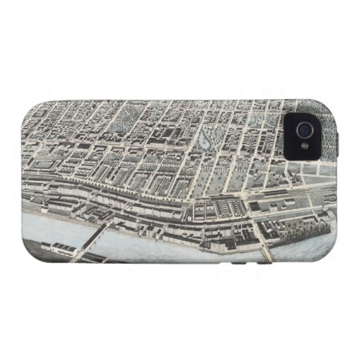 Vintage Pictorial Map of Manchester NH (1876) Case-Mate iPhone 4 Cover