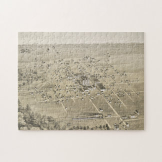 Vintage Pictorial Map of McKinney Texas (1876) Jigsaw Puzzle