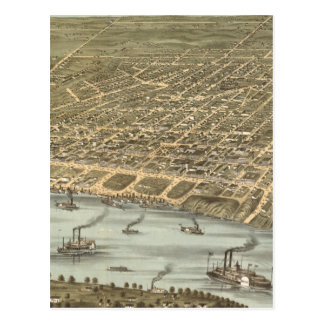 Vintage Pictorial Map of Memphis Tennessee (1870) Postcard