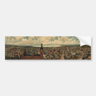 Vintage Pictorial Map of Milwaukee WI (1898) Bumper Sticker