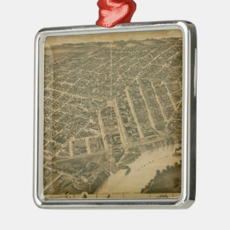 Vintage Pictorial Map of Montgomery Alabama (1887) Christmas Ornament