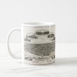 Vintage Pictorial Map of Narragansett RI (1888) Basic White Mug