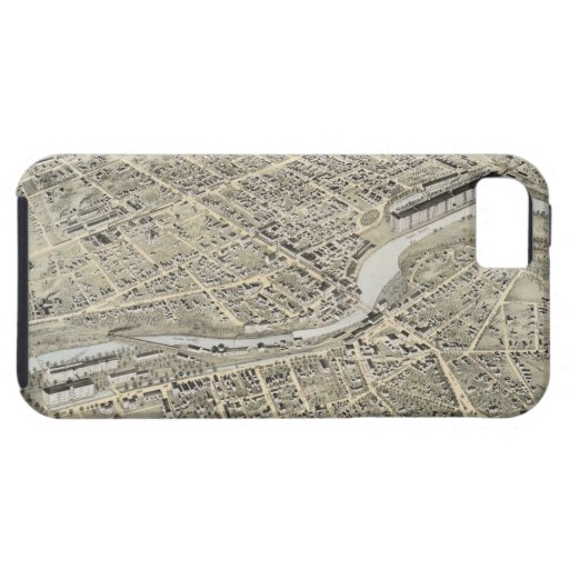 Vintage Pictorial Map of Nashua NH (1875) iPhone 5 Case