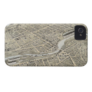 Vintage Pictorial Map of Nashua NH 1875 iPhone 4 Cases
