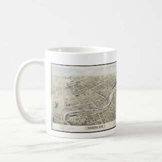 Vintage Pictorial Map of Nashua NH (1875) Classic White Coffee Mug
