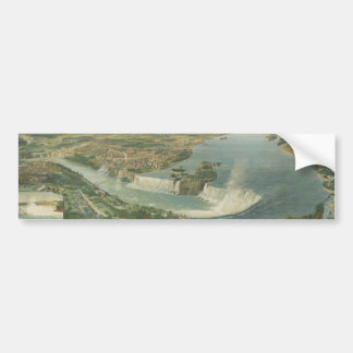 Vintage Pictorial Map of Niagara Falls NY (1893) Bumper Sticker