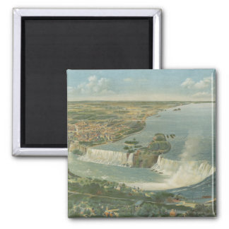 Vintage Pictorial Map of Niagara Falls NY (1893) Magnet