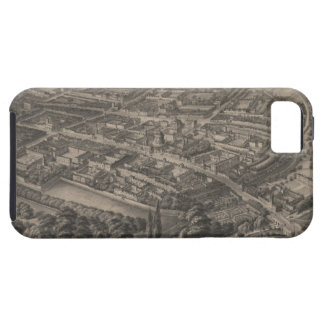 Vintage Pictorial Map of Oxford England (1850) Tough iPhone 5 Case