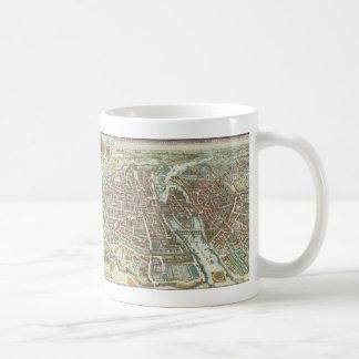 Vintage Pictorial Map of Paris (1615) Basic White Mug