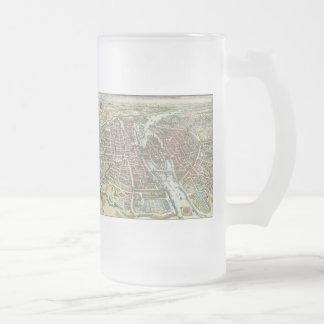 Vintage Pictorial Map of Paris (1615) Coffee Mug