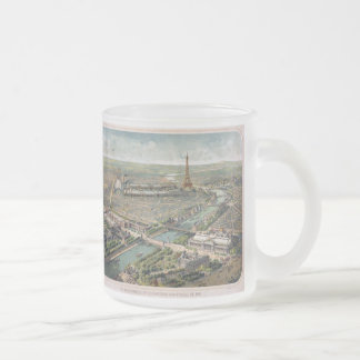 Vintage Pictorial Map of Paris (1900) Frosted Glass Mug