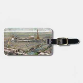 Vintage Pictorial Map of Paris (1900) Luggage Tag