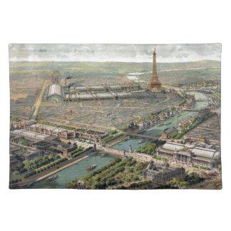 Vintage Pictorial Map of Paris (1900) Place Mat