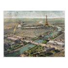 Vintage Pictorial Map of Paris (1900) Postcard