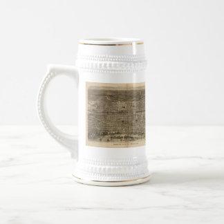 Vintage Pictorial Map of Philadelphia (1872) Mugs