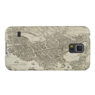 Vintage Pictorial Map of Portsmouth NH 1877 Galaxy Nexus Cases
