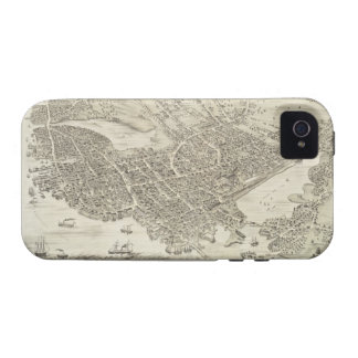 Vintage Pictorial Map of Portsmouth NH 1877 iPhone 4 Case
