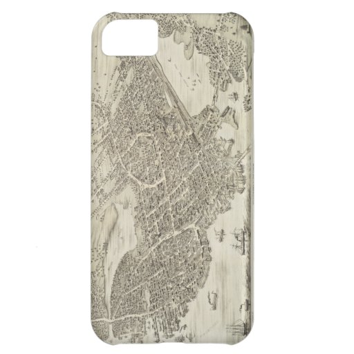 Vintage Pictorial Map of Portsmouth NH (1877) iPhone 5C Case