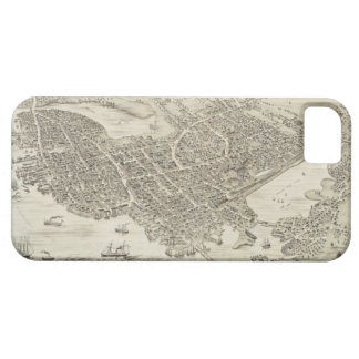 Vintage Pictorial Map of Portsmouth NH 1877 iPhone 5 Cases