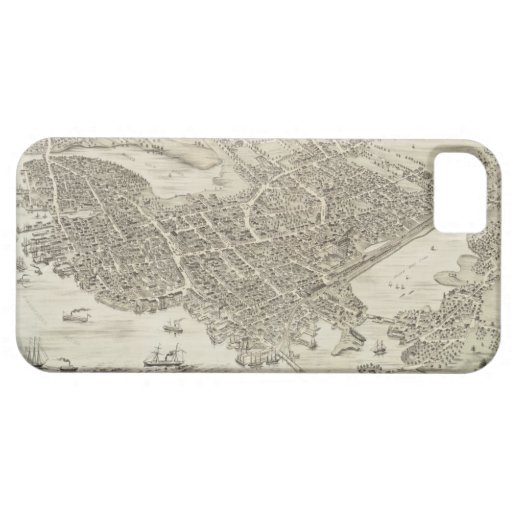 Vintage Pictorial Map of Portsmouth NH (1877) iPhone 5 Cases