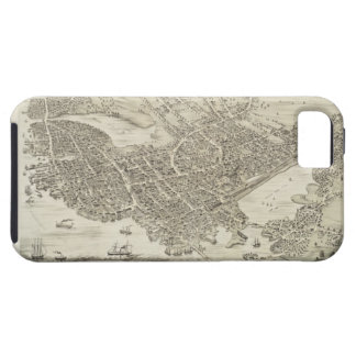 Vintage Pictorial Map of Portsmouth NH 1877 iPhone 5 Cover
