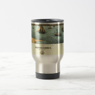 Vintage Pictorial Map of Provincetown (1887) Coffee Mug
