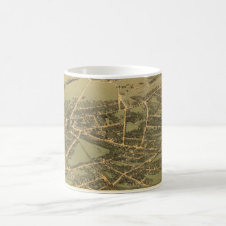 Vintage Pictorial Map of Quincy (1877) Mug