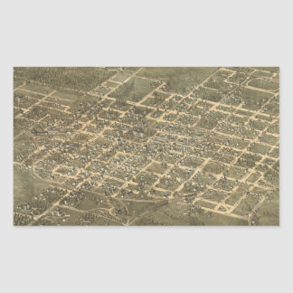 Vintage Pictorial Map of Raleigh NC (1872) Sticker