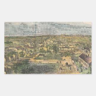 Vintage Pictorial Map of Richmond Virginia (1862) Rectangular Sticker