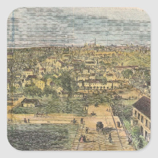 Vintage Pictorial Map of Richmond Virginia (1862) Square Sticker