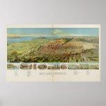 Vintage Pictorial Map of Salt Lake City (1891) Poster