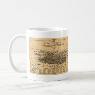 Vintage Pictorial Map of San Francisco (1875) Basic White Mug