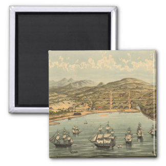 Vintage Pictorial Map of San Francisco 1884 Refrigerator Magnets