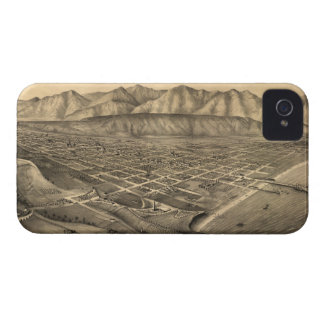 Vintage Pictorial Map of Santa Barbara CA 1877 Case-Mate iPhone 4 Case