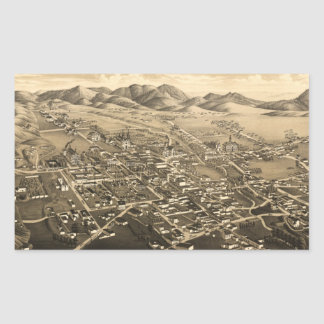 Vintage Pictorial Map of Santa Fe (1882) Rectangle Sticker