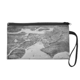 Vintage Pictorial Map of Seattle 1908 Wristlet