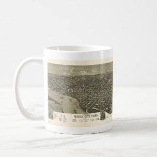 Vintage Pictorial Map of Sioux City Iowa (1888) Basic White Mug