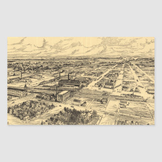 Vintage Pictorial Map of Southern Milwaukee (1906) Stickers