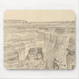 Vintage Pictorial Map of The Grand Canyon (1895) Mouse Pad