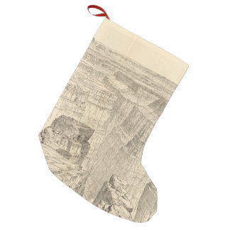 Vintage Pictorial Map of The Grand Canyon (1895) Small Christmas Stocking