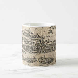 Vintage Pictorial Map of Venice Italy (1573) Coffee Mug