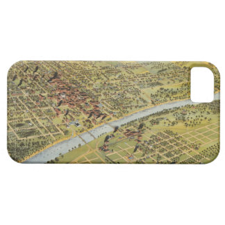 Vintage Pictorial Map of Waco Texas 1892 iPhone 5 Cases
