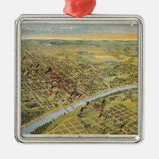 Vintage Pictorial Map of Waco Texas (1892) Christmas Ornament