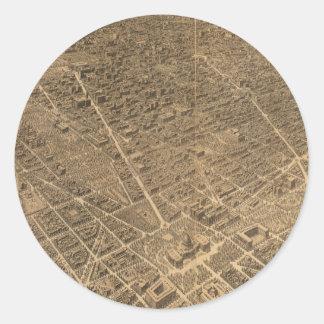 Vintage Pictorial Map of Washington D.C. (1921) Round Sticker